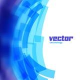 Предпосылка вектора с голубыми неясными линиями Стоковое Фото