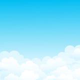 Предпосылка вектора с облаками в небе иллюстрация штока