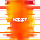 Предпосылка вектора с оранжевыми неясными линиями Стоковое Изображение