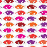 Предпосылка вектора с покрашенными глазами Стоковые Изображения