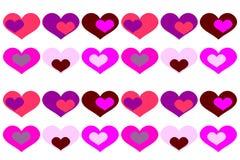 Предпосылка вектора с покрашенными сердцами Стоковые Фото