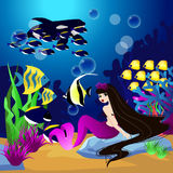 Предпосылка вектора с подводным миром бесплатная иллюстрация