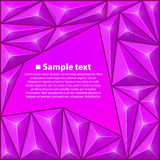 Предпосылка вектора с треугольниками пурпурово иллюстрация вектора