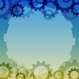Предпосылка вектора с элементом шестерни Промышленные компоненты иллюстрация штока