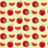 Предпосылка вектора томатов безшовная Стоковые Фотографии RF
