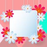 Предпосылка вектора цветка Стоковое Изображение RF