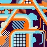 Предпосылка вектора шаржа абстрактная Стоковая Фотография RF