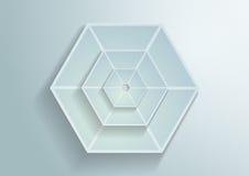 Предпосылка вектора шестиугольников белой бумаги Стоковые Изображения RF