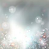 Предпосылка вектора Bokeh рождества абстрактная Стоковое Изображение