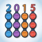 Предпосылка 2015 вектора metaball календаря Стоковое Изображение