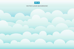 Предпосылка вектора scape облака иллюстрация штока