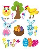 Набор символов пасхи бесплатная иллюстрация