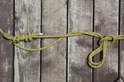 Предпосылка веревочки и древесины Стоковые Изображения