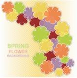 Предпосылка весны покрашенная цветком Иллюстрация вектора