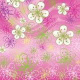 Предпосылка весны. Цветки на абстрактном backgro иллюстрация штока