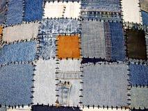 Предпосылка ветошей джинсовой ткани Стоковое Фото