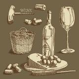 Предпосылка вина иллюстрация штока