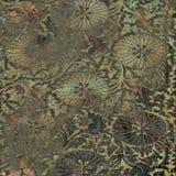 Предпосылка винтажного батика Grunge флористическая Стоковое фото RF
