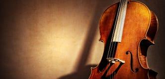 Предпосылка виолончели с космосом экземпляра для концепции музыки стоковое фото