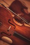 Предпосылка виолончели Стоковые Изображения RF