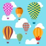 Предпосылка воздушных шаров вектор Стоковое Изображение