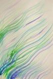 Предпосылка волнистых нашивок покрашенных в акварели Стоковая Фотография