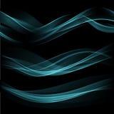 Предпосылка волны дыма также вектор иллюстрации притяжки corel Стоковые Изображения RF