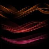 Предпосылка волны дыма также вектор иллюстрации притяжки corel Стоковое Изображение RF