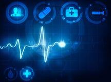 Предпосылка волны Cardiogram медицинская иллюстрация вектора