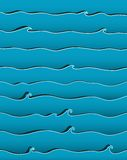 Предпосылка волн океана или моря иллюстрация штока