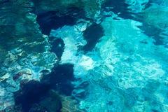 Предпосылка воды скалистая, Атлантический океан. Стоковое Изображение