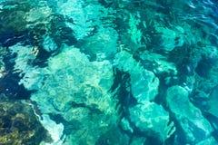 Предпосылка воды утесистая, Атлантический океан. Стоковые Фото