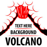Предпосылка вулкана Извержение вулкана на заднем плане для надписи Стоковая Фотография RF