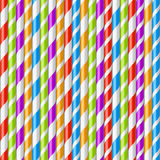 Предпосылка выпивая солом Striped Стоковое Изображение RF