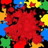 Предпосылка выплеска представляет цвета и spatter краски Стоковые Изображения RF