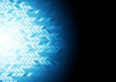 предпосылка Высок-техника геометрическая синяя Стоковая Фотография RF