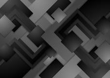 предпосылка Высок-техника темная серая корпоративная абстрактная Стоковое Фото