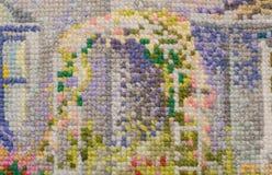 Предпосылка, вышивка, план, needlework, текстура Стоковое Фото