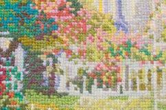 Предпосылка, вышивка, план, needlework, текстура Стоковое Изображение