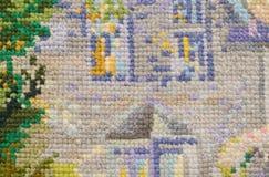 Предпосылка, вышивка, план, needlework, текстура Стоковые Фотографии RF