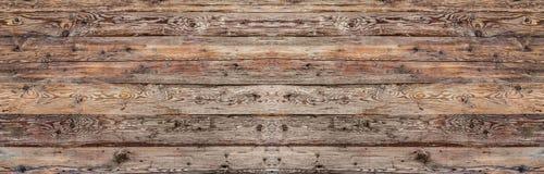 Предпосылка выдержанная планкой деревянная Стоковая Фотография