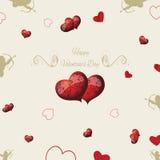 Предпосылка в винтажном стиле для поздравлений любовников Стоковое Изображение RF