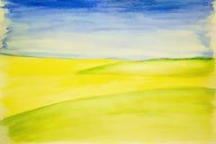 Предпосылка в голубых и желтых цветах Стоковые Изображения