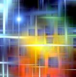 Предпосылка в голубых и темных оттенках с звездой Стоковые Фотографии RF