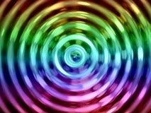 Предпосылка влияния воды, красочный резонанс воды Стоковые Фотографии RF