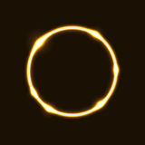 Предпосылка влияния круга кольца золота иллюстрация штока