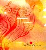 Предпосылка в стиле zentangle Стоковые Изображения RF