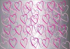 Предпосылка влюбленности красный цвет поднял Стоковое Изображение RF