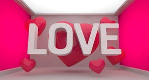 Предпосылка влюбленности розовая Стоковое Фото