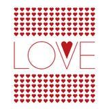 Предпосылка влюбленности с малыми красными сердцами Стоковое Изображение RF